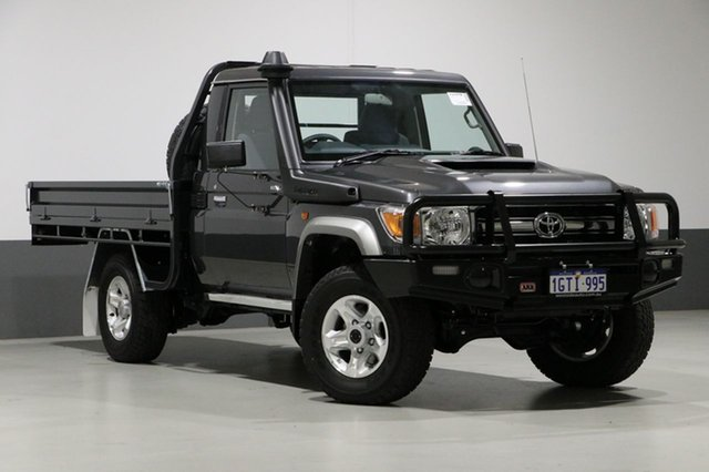 Used Toyota Landcruiser VDJ79R MY18 GXL (4x4), 2019 Toyota Landcruiser VDJ79R MY18 GXL (4x4) Graphite 5 Speed Manual Cab Chassis