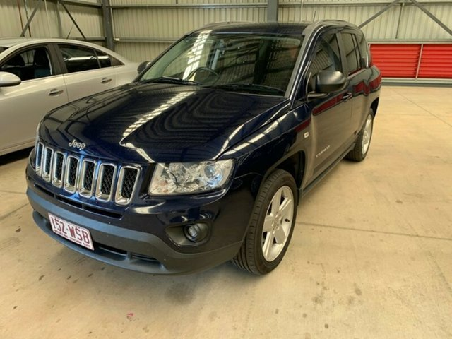 Used Jeep Compass MK MY12 Limited CVT Auto Stick, 2012 Jeep Compass MK MY12 Limited CVT Auto Stick Blue 6 Speed Constant Variable Wagon