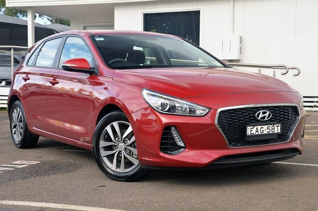 Used Hyundai i30 PD MY18 Active D-CT, 2017 Hyundai i30 PD MY18 Active D-CT Red 7 Speed Sports Automatic Dual Clutch Hatchback