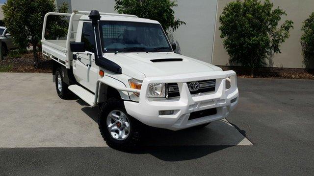 Used Toyota Landcruiser VDJ79R MY13 GXL, 2013 Toyota Landcruiser VDJ79R MY13 GXL White 5 Speed Manual Cab Chassis