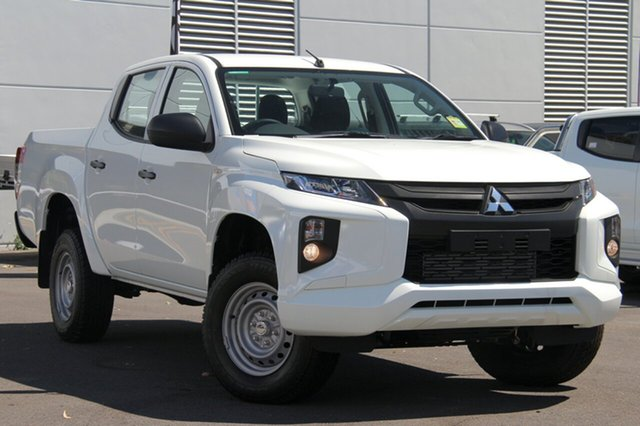 New Mitsubishi Triton MR MY19 GLX Double Cab, 2019 Mitsubishi Triton MR MY19 GLX Double Cab White 6 Speed Manual Utility