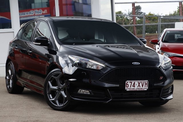 Used Ford Focus LZ ST, 2016 Ford Focus LZ ST Black 6 Speed Manual Hatchback