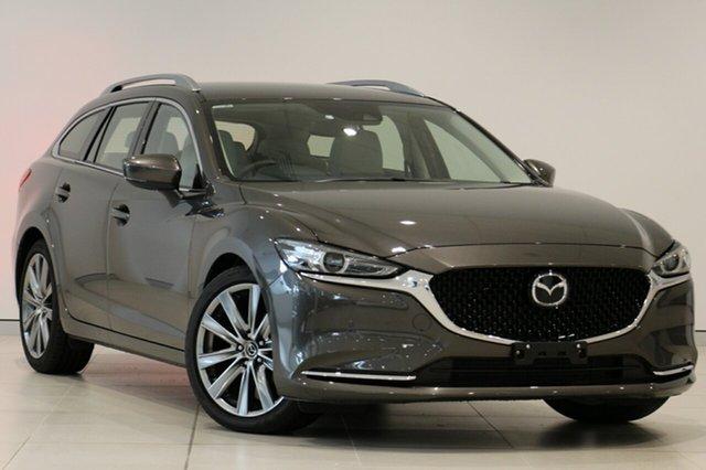 Used Mazda 6 GL1032 GT SKYACTIV-Drive, 2018 Mazda 6 GL1032 GT SKYACTIV-Drive Titanium Flash 6 Speed Sports Automatic Wagon