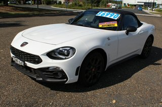 2018 Abarth 124 Series 1 Spider White 6 Speed Sports Automatic Roadster.
