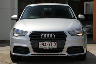2012 Audi A1 8X MY13 Attraction Sportback S Tronic Silver 7 Speed Sports Automatic Dual Clutch