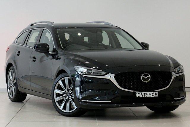 Used Mazda 6 GL1032 GT SKYACTIV-Drive, 2018 Mazda 6 GL1032 GT SKYACTIV-Drive Jet Black 6 Speed Sports Automatic Wagon