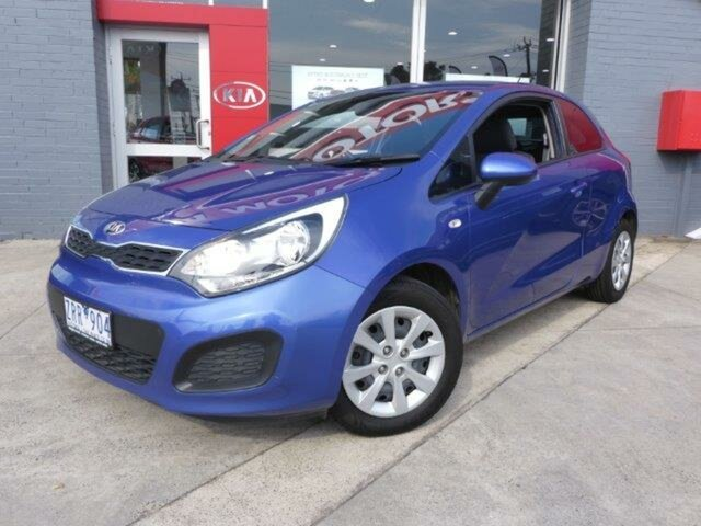 Used Kia Rio UB MY13 S, 2013 Kia Rio UB MY13 S Blue 6 Speed Manual Hatchback