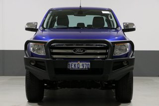 2014 Ford Ranger PX XLT 3.2 (4x4) Blue 6 Speed Automatic Dual Cab Utility.