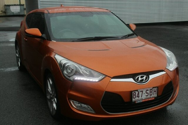 Used Hyundai Veloster FS Coupe, 2012 Hyundai Veloster FS Coupe Orange 6 Speed Manual Hatchback