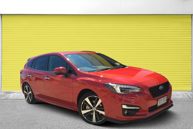 Used Subaru Impreza G5 MY18 S-Edition CVT AWD, 2018 Subaru Impreza G5 MY18 S-Edition CVT AWD Pure Red/leath 7 Speed Constant Variable Hatchback