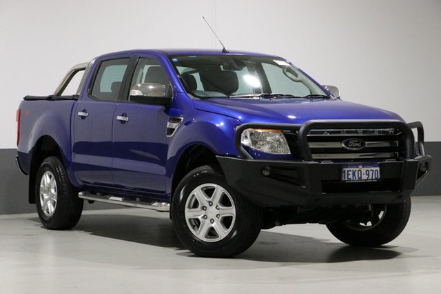 Used Ford Ranger PX XLT 3.2 (4x4), 2014 Ford Ranger PX XLT 3.2 (4x4) Blue 6 Speed Automatic Dual Cab Utility