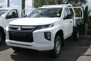 2018 Mitsubishi Triton MR MY19 GLX White 5 Speed Manual Cab Chassis.