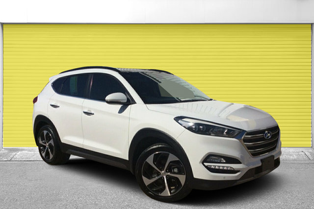 Used Hyundai Tucson TLE Highlander AWD, 2015 Hyundai Tucson TLE Highlander AWD White 6 Speed Sports Automatic Wagon