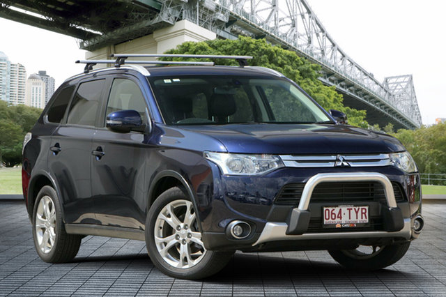 Used Mitsubishi Outlander ZJ MY14.5 LS 4WD, 2014 Mitsubishi Outlander ZJ MY14.5 LS 4WD Blue 6 Speed Sports Automatic Wagon