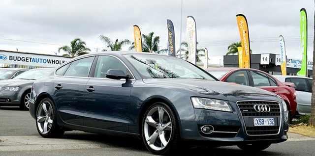 Used Audi A5 8T MY11 Sportback S Tronic Quattro, 2010 Audi A5 8T MY11 Sportback S Tronic Quattro Grey 7 Speed Sports Automatic Dual Clutch Hatchback