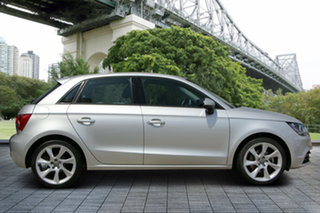2012 Audi A1 8X MY13 Attraction Sportback S Tronic Silver 7 Speed Sports Automatic Dual Clutch.
