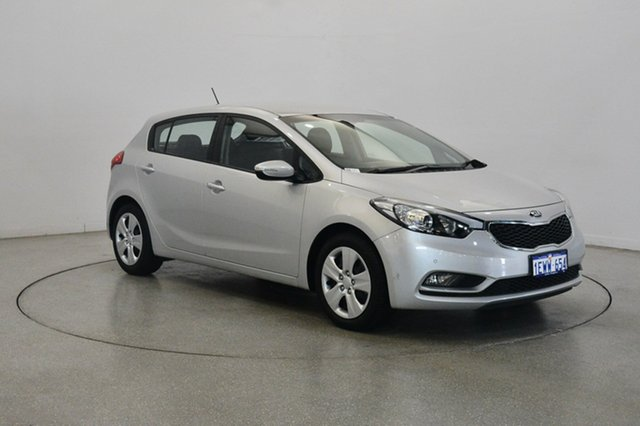 Used Kia Cerato YD MY15 S, 2015 Kia Cerato YD MY15 S Silky Silver 6 Speed Sports Automatic Hatchback