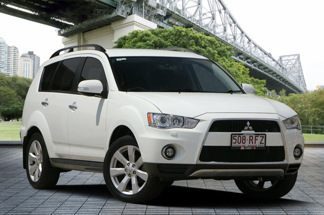 Used Mitsubishi Outlander ZH MY10 XLS, 2010 Mitsubishi Outlander ZH MY10 XLS White 6 Speed Constant Variable Wagon