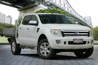 2011 Ford Ranger PX XL Double Cab White 6 Speed Manual Utility.