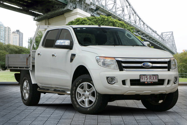 Used Ford Ranger PX XL Double Cab, 2011 Ford Ranger PX XL Double Cab White 6 Speed Manual Utility