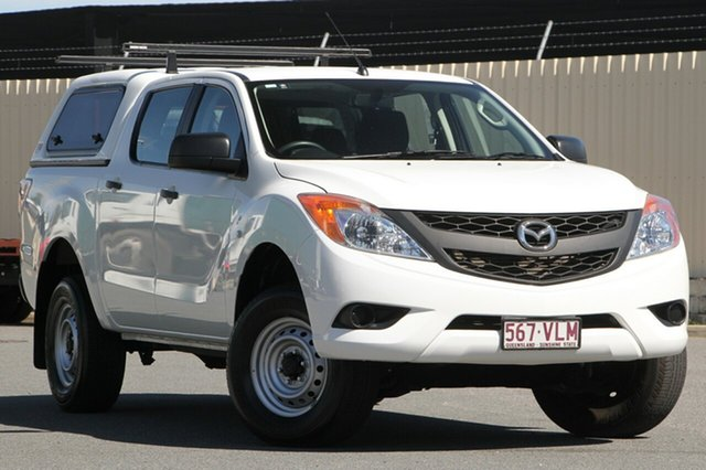 Used Mazda BT-50 UP0YF1 XT 4x2 Hi-Rider, 2015 Mazda BT-50 UP0YF1 XT 4x2 Hi-Rider Cool White 6 Speed Sports Automatic Utility