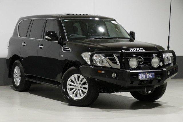 Used Nissan Patrol Y62 Series 4 MY18 TI (4x4), 2018 Nissan Patrol Y62 Series 4 MY18 TI (4x4) Black 7 Speed Automatic Wagon