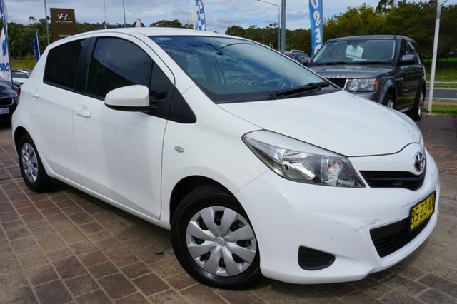 Used Toyota Yaris NCP130R YR, 2012 Toyota Yaris NCP130R YR White 4 Speed Automatic Hatchback