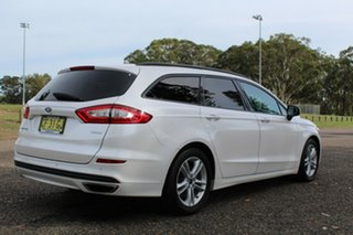 2015 Ford Mondeo Ambiente White Platinum Tri-Coat Sports Automatic Wagon.