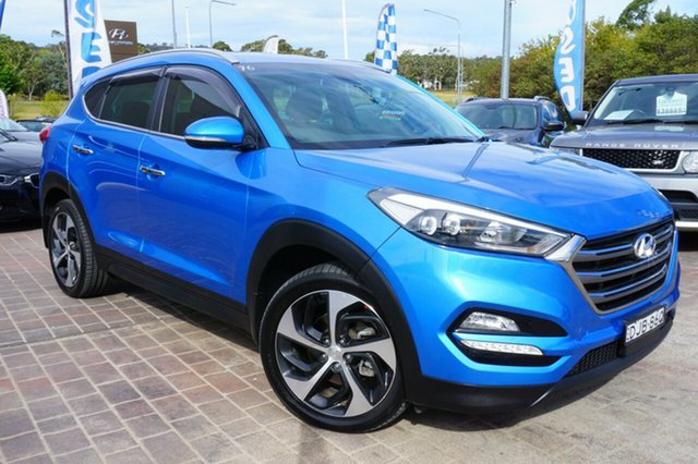 Used Hyundai Tucson TLE Elite AWD, 2016 Hyundai Tucson TLE Elite AWD Blue 6 Speed Sports Automatic Wagon