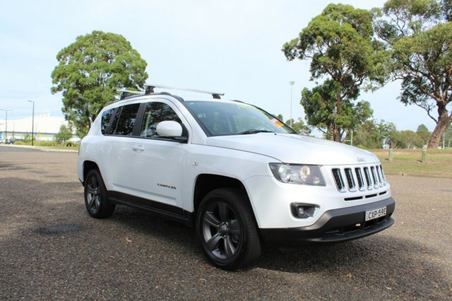 Used Jeep Compass  North, 2014 Jeep Compass North White Sports Automatic Wagon