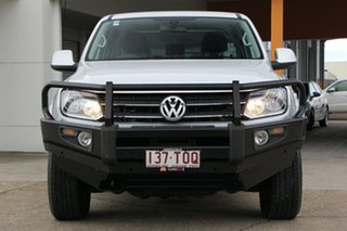 2013 Volkswagen Amarok 2H MY13 TDI420 4Motion Perm Trendline Silver 8 Speed Automatic Cab Chassis