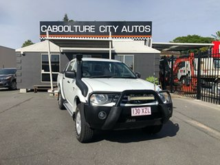 2011 Mitsubishi Triton MN MY11 GL-R Double Cab White 5 Speed Manual Utility.