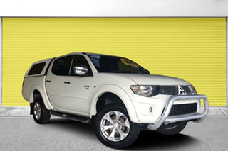 2012 Mitsubishi Triton MN MY12 GLX Double Cab White 4 Speed Automatic Utility.