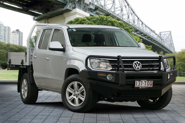 Used Volkswagen Amarok 2H MY13 TDI420 4Motion Perm Trendline, 2013 Volkswagen Amarok 2H MY13 TDI420 4Motion Perm Trendline Silver 8 Speed Automatic Cab Chassis