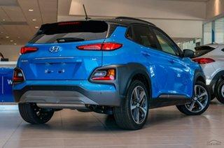 2018 Hyundai Kona OS.2 MY19 Highlander D-CT AWD Blue Lagoon 7 Speed Sports Automatic Dual Clutch.