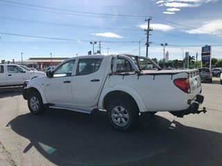 2011 Mitsubishi Triton MN MY11 GL-R Double Cab White 5 Speed Manual Utility
