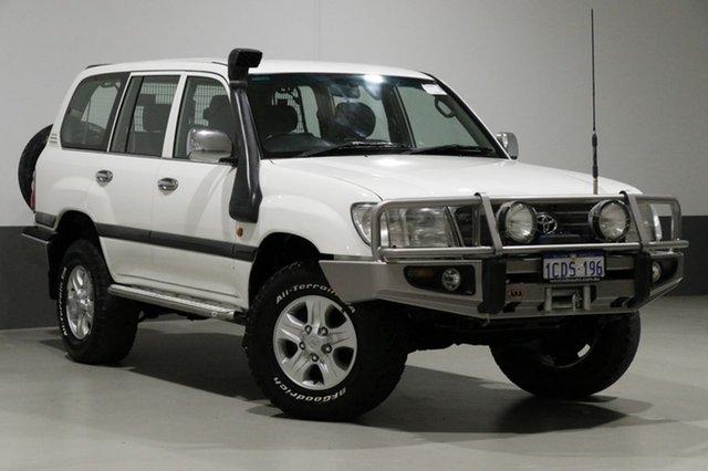 Used Toyota Landcruiser HDJ100R GXL (4x4), 2005 Toyota Landcruiser HDJ100R GXL (4x4) White 5 Speed Manual Wagon