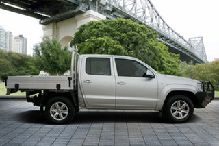 2013 Volkswagen Amarok 2H MY13 TDI420 4Motion Perm Trendline Silver 8 Speed Automatic Cab Chassis.