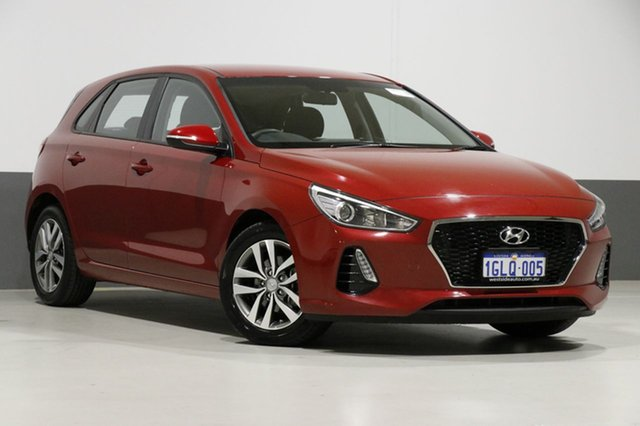 Used Hyundai i30 PD Active, 2017 Hyundai i30 PD Active Red 6 Speed Auto Sequential Hatchback