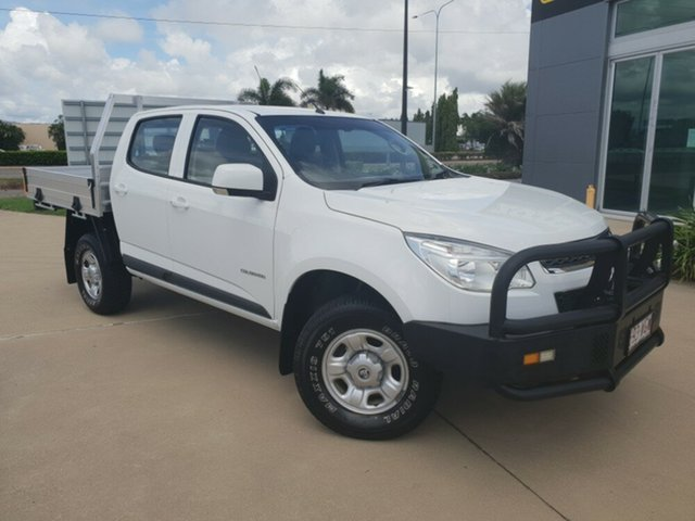 Used Holden Colorado RG MY16 LS Crew Cab, 2016 Holden Colorado RG MY16 LS Crew Cab Summit White 6 Speed Sports Automatic Cab Chassis