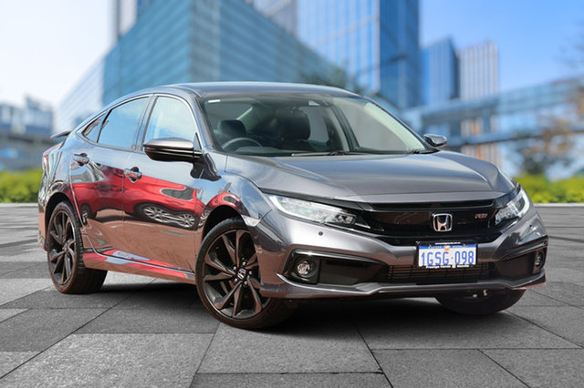 Demo Honda Civic 10th Gen MY19 RS, 2019 Honda Civic 10th Gen MY19 RS Modern Steel 1 Speed Constant Variable Sedan