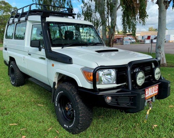 Used Toyota Landcruiser VDJ78R MY13 Workmate Troopcarrier, 2012 Toyota Landcruiser VDJ78R MY13 Workmate Troopcarrier White 5 Speed Manual Wagon
