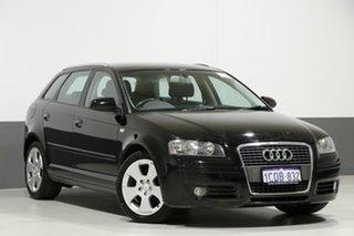 2007 Audi A3 8P 1.8 TFSI Ambition Black 6 Speed Direct Shift Hatchback.