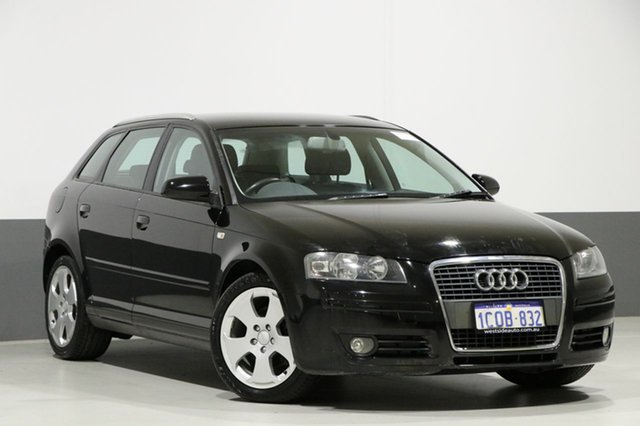 Used Audi A3 8P 1.8 TFSI Ambition, 2007 Audi A3 8P 1.8 TFSI Ambition Black 6 Speed Direct Shift Hatchback