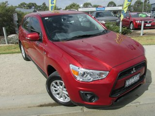 2012 Mitsubishi ASX XB MY13 2WD Red 6 Speed Constant Variable Wagon.