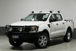 2012 Ford Ranger PX XL 3.2 (4x4) White 6 Speed Manual Dual Cab Utility.