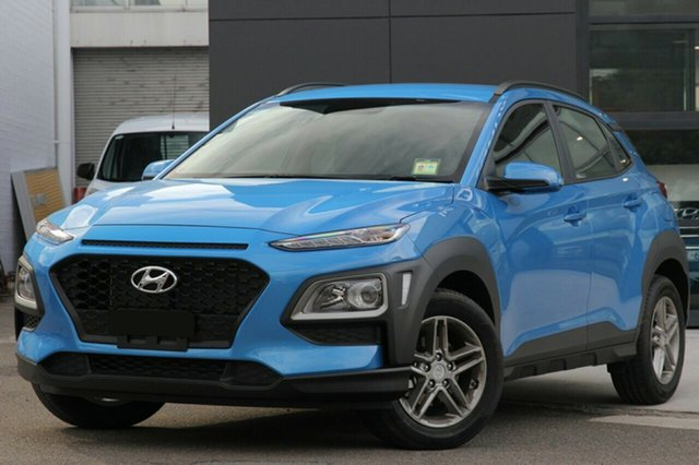 New Hyundai Kona OS.2 MY19 Active D-CT AWD, 2018 Hyundai Kona OS.2 MY19 Active D-CT AWD Blue Lagoon 7 Speed Sports Automatic Dual Clutch Wagon