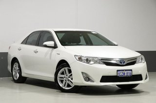 2014 Toyota Camry AVV50R Hybrid HL Pearl White Continuous Variable Sedan.