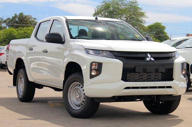 New Mitsubishi Triton MR MY19 GLX Double Cab, 2018 Mitsubishi Triton MR MY19 GLX Double Cab White 6 Speed Sports Automatic Utility
