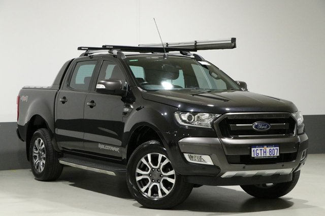 Used Ford Ranger PX MkII MY17 Wildtrak 3.2 (4x4), 2016 Ford Ranger PX MkII MY17 Wildtrak 3.2 (4x4) Black 6 Speed Manual Dual Cab Pick-up